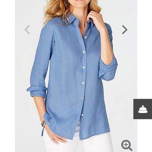 EUC J Jill Linen Essential Shirt 👚